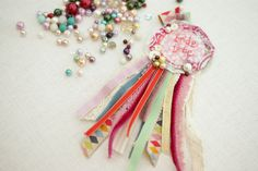 Liberty print rosettes for the your bridesmaid party