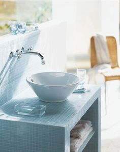 Duravit - Bathroom design series: Washbowls - surface mounted basins from Duravit.