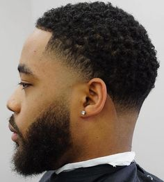 Curly Temple And Nape Fade