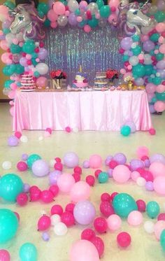 Unicorn party for Xime Unicorn Themed Birthday Party, Unicorn Birthday Parties, First Birthday Parties, Birthday Party Decorations, Girl Birthday, Birthday Ideas, Jojo Siwa Birthday, Festa Party, Balloons