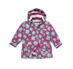 Hatley Blue Flowers Raincoat at Wellies and Worms