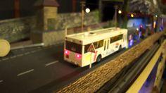 Faller Car system Stadtbus fahrt auf  Modellbahnanlage