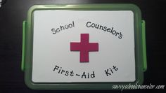 """School Counselor's First-Aid Kit- GREAT """"Get to Know You"""" Lesson that teaches the students what a counselor does and how he/she can help!"""