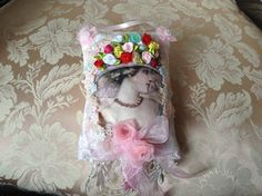 7 inch lavender scented sachet with image of a by cindysvictorian
