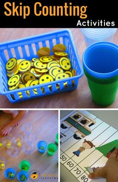 Skip counting activities help kids with fluency in calculation and is the basis for multiplication. I'm sharing some of my favorite skip counting ideas. Skip Counting Activities, Numeracy Activities, Space Activities, Kindergarten Activities, Maths Resources, School Resources, Math Worksheets, Learning Activities, Preschool Math