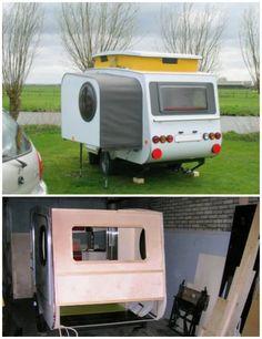 Rv Campers, Truck Camper, Diy Camper Trailer Designs, Homemade Camper, Build A Camper, Van Camping, Camper Trailers, Travel Trailers, Diy On A Budget