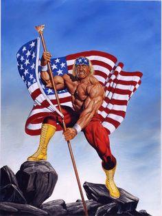 Wrestling Posters, Wrestling Wwe, Hulk Hogan, Wwe Lucha, Attitude Era, Roddy Piper, Wwe Wallpapers, Wrestling Superstars, Comic Movies