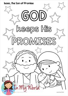 École du dimanche Isaac, le fils de la promesse - In My World - Toddler Sunday School, Kids Sunday School Lessons, Sunday School Crafts For Kids, Sunday School Activities, Abraham Bible Crafts, Bible Story Crafts, Bible Crafts For Kids, Bible Stories, Dibujo