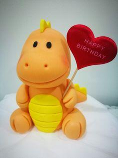 baby dinosaur birthday cake topper Dinosaur Cake Pops, Dinosaur Cake Toppers, Dino Cake, Dinosaur Birthday Cakes, 3rd Birthday Cakes, Fondant Cupcake Toppers, Birthday Cake Toppers, Cupcake Cakes, Dinosaur Party