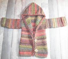Crochet Boho festival hoodie - Peanut and Plum Crochet Baby Sweaters, Crochet Hoodie, Crochet Jacket, Crochet Cardigan, Crochet Clothes, Baby Knitting, Crochet Toddler, Crochet Girls, Crochet For Kids