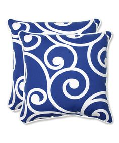 Loving this Blue Best Throw Pillow - Set of Two on #zulily! #zulilyfinds