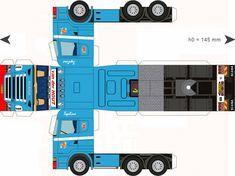Free Download Paper Model Trucks | Trailer-Hout