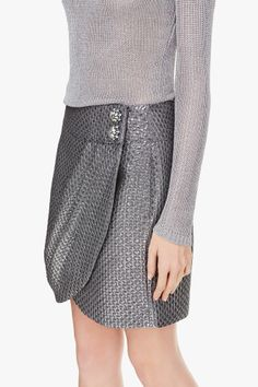 Jacquard Wrap Skirt  | Adolfo Dominguez