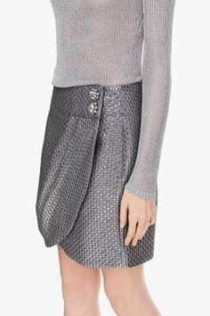 Jacquard Wrap Skirt | Adolfo Dominguez