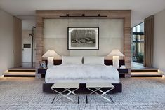 bedroom design 22 Flawless Contemporary Bedroom Designs Black and white bedroom by Meyer Davis Small Modern Bedroom, Modern Bedroom Design, Master Bedroom Design, Contemporary Bedroom, Beautiful Bedrooms, Bedroom Designs, Master Suite, Luxury Furniture, Bedroom Furniture