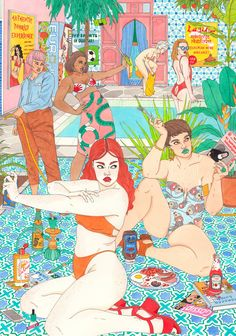 The sly, knowing work of Irish illustrator Laura Callaghan skewers the shallow desires of the Instagram generation – and a culture that ensures women are never comfortable in their own skin