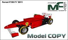 Ferrari F150 F1 '2011 - 3D Model (3ds, 3dm, dwg, igs, max, obj, stl, ipt, ma)