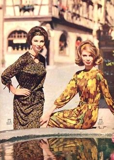 1960s dresses.....both of these ladies look like Fran Drenched lol relatives??