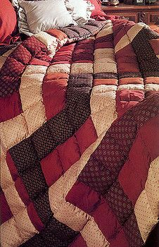 Quick and easy to make puffy quilt pattern
