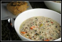Made this over the weekend and it was almost like Panera's Cream of Chicken and Wild Rice! 1% milk worked, not sure about skim.
