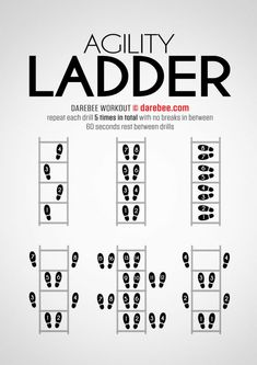 The Agility Ladder workout is designed to help you get nimble enough to turn on a dime. Volleyball Workouts, Basketball Workouts, Soccer Drills, Basketball Hoop, Volleyball Quotes, Volleyball Gifts, Girls Basketball, Soccer Tips, Girls Softball