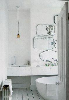 Mirror decoration - www.myLusciousLife.com - mirrored bathroom with multiple mirrors.jpg