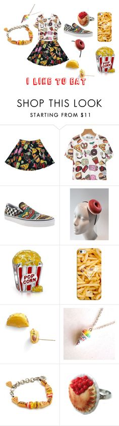 """""""Lunch time"""" by maddie-hatter23 ❤ liked on Polyvore featuring Vans, Bling Jewelry, Casetify and Venessa Arizaga"""