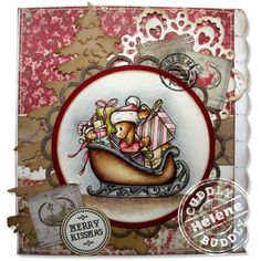 Hélène's lovely things in life . Craft Shop, Copics, Distress Ink, Digital Stamps, Handmade Christmas, I Card, Gift Tags, Christmas Cards, Merry