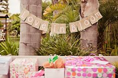 """Decoration inspiration for the bridal shower.  """"Love in Bloom"""" theme"""