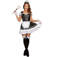 Maid Halloween, Blonde Halloween Costumes, Cute Costumes, Halloween Outfits, Adult Costumes, Costumes For Women, French Maid Fancy Dress, French Maid Costume, Maid Outfit