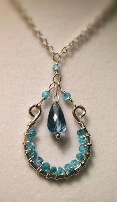 London Blue Topaz Aventurine Sterling Silver Necklace