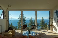 Lake Tahoe Residence | Northworks Architects + Planners Lake Tahoe, Nevada, Forest View, Room Interior Design, Entry Hall, Metal Roof, Open Plan, White Walls, Nice View