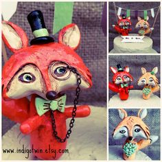Hey, I found this really awesome Etsy listing at https://www.etsy.com/listing/219546534/red-foxes-in-love-wedding-cake-topper