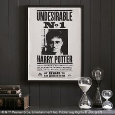 HARRY POTTER™ Framed Art: Undesirable. Wanted! A statement-making print featuring everyone's favorite wizard. This iconic image from the MINISTRY OF MAGIC™ boasts wand-gripping drama that looks great on walls.