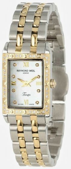 #Raymond Weil #Women 's 5971-SPS-00995 Tango Rectangular Two-Tone 40 #Diamonds   #Watch