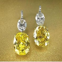 "86 Likes, 3 Comments - Simran Shroff (@sapphiresarepink) on Instagram: ""Having a major #ovalobsession with these fancy vivid yellow oval diamonds of 5.99 and 5.45 carats…"""