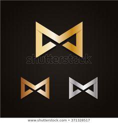 Bow Tie Logo Letter M Luxury Stock Vector (Royalty Free) 371328517 Black Nike Free Runs, Service Logo, Initials Logo, Vintage Ski, Letter Logo, Logo Inspiration, Logo Design, Bronze, Bows