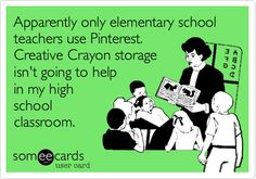 Apparently only elementary school teachers use Pinterest. A tattle tale phone is cute but its not going to work in a high school classroom.