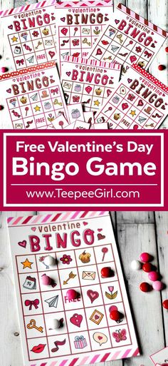 This free Valentine's Day Bingo printable game is perfect for all your Valentine. - This free Valentine's Day Bingo printable game is perfect for all your Valentine's Day parties! Valentine Bingo, Kinder Valentines, Valentines Games, Valentines Gifts For Boyfriend, Valentines Day Activities, Valentines Day Party, Valentine Day Crafts, Printable Valentine, Free Printable