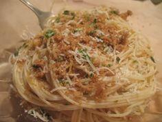 Angel Hair Pasta with Garlic and Lemon-Parmesan Breadcrumbs