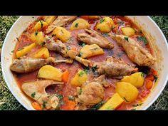 Cea mai bună rețetă de pui - YouTube Stew Chicken Recipe, Chicken Recipes, Pollo Guisado, Perfect Chicken, Pot Roast, Paella, Poultry, Food And Drink, Pizza