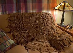Ravelry: Chestnut Circular Throw pattern by Priscilla Hewitt