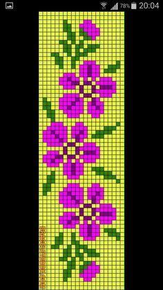 Tiny Cross Stitch, Cross Stitch Borders, Cross Stitch Flowers, Counted Cross Stitch Patterns, Cross Stitch Charts, Cross Stitch Designs, Cross Stitching, Loom Bracelet Patterns, Diy Friendship Bracelets Patterns