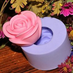 Rose Flower Soap Mold Flexible Silicone Mould For Handmade Soap Candle Candy Cake Fimo Resin Crafts Candle Art, Candle Molds, Soap Molds, Silicone Molds, Resin Molds, Savon Soap, Soaps, Food Mold, 3d Rose