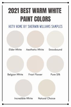2021 Best Warm White Paint Colors from HGTV Home By Sherwin Williams   Trending Paint Colors