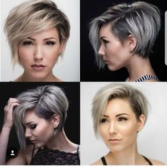 "5,588 Likes, 67 Comments - Pixie Short Hair Don't Care (@nothingbutpixies) on Instagram: ""Pick a favorite look on @chloenbrown Top Left Bottom Left Top Right Bottom Right or…"""