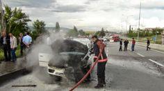 Devriye Haber : Otomobil Seyir Halindeyken Alev Aldı
