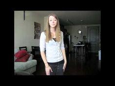 Amazing girl.  Beautiful American sign Language.