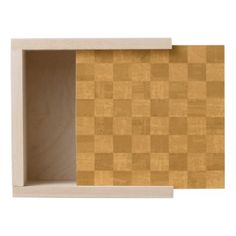 #wood - #Golden Chessboard Wood Keepsake Box