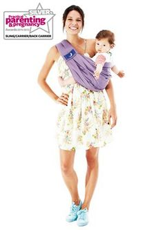 The BabaSling - Best Baby Sling/Carrier (Silver)